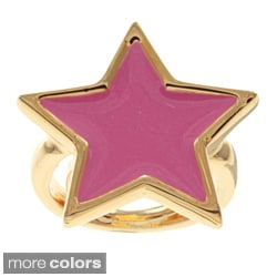 Kenneth Jay Lane Goldtone Star Ring