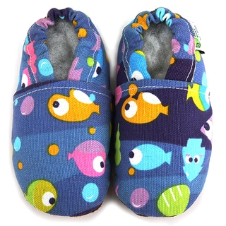 Fishies Soft Sole Canvas Baby Shoes