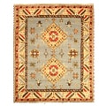 Hand-knotted Kazak-10 Blue Wool Rug