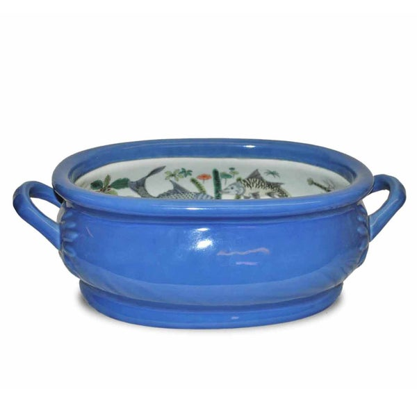 Blue Porcelain Foot Bath