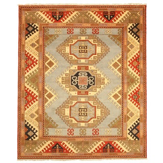 Hand-knotted Kazak-11 Blue Wool Rug
