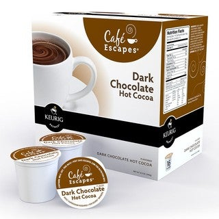 Cafe Escapes Dark Chocolate Hot Cocoa K-Cups for Keurig Brewers (Pack of 96)