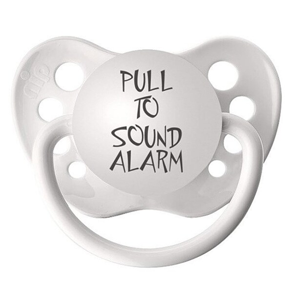 Pull To Sound Alarm Clear Pacifier