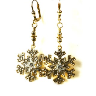 'Patricia' Snowflake Dangle Earrings