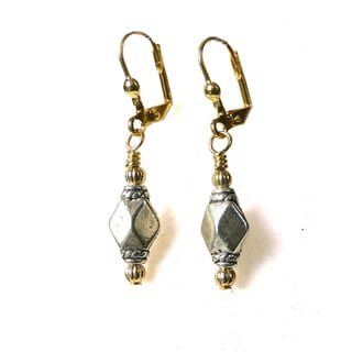 'Michelle' Metal Dangle Earrings