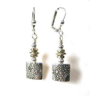 'Eve' Metal Dangle Earrings