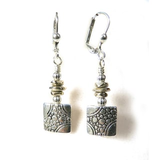 'Eve' Metal Dangle Earrings