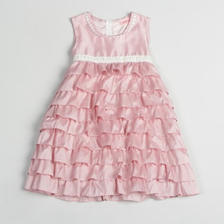 Paulinie Collection Girl's Pink Sleeveless Puffy Dress