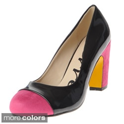 Henry Ferrera Women's Colorblocked Mixed Media Pumps