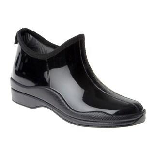 Henry Ferrera Women's Solid Rubber Slip-on Rain Shoes