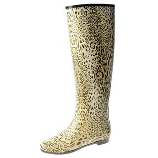 Henry Ferrera Women's Tiger Print Rain Boots
