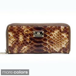 Anais Gvani Women's Leather Snakeskin Texture Wallet