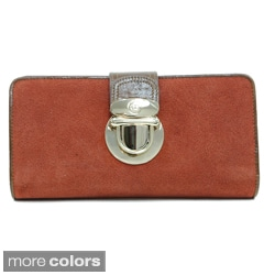 Anais Gvani Women's Leather Gold-tone Buckle Wallet