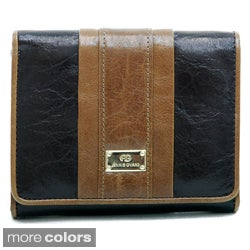Anais Gvani Women's Italian Leather Color-block Wallet