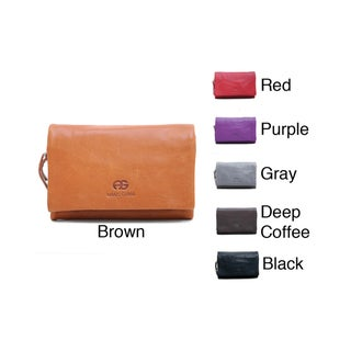 Anais Gvani Women's Leather Contrasting Interior Wallet