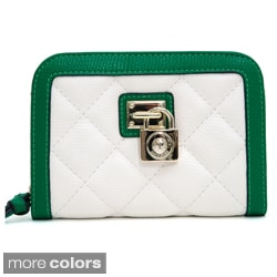 Anais Gvani Women's Petite Quilted Two-Tone Wallet