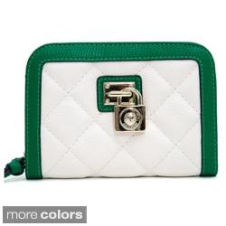 Anais Gvani Women's Petite Quilted Two-Tone Wallet