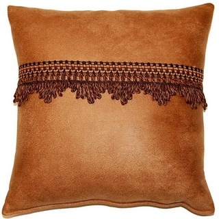 Aspen Saddle 17-inch Trimmed Throw Pillows (Set of 2)