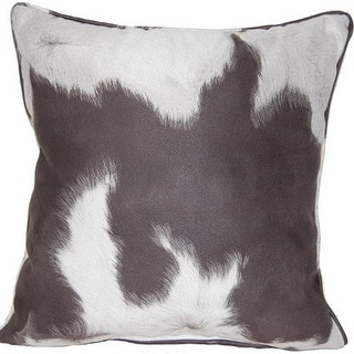 Cowhide Blk/White 17-inch Throw Pillows (Set of 2)