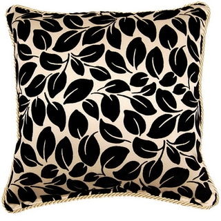 Leaves Ebony 17-inch Braid Pillows (Set of 2)