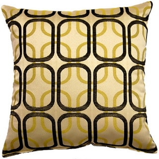 Linked Black 17-inch Throw Pillows (Set of 2)