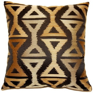 Lush Black 17-inch Throw Pillows (Set of 2)