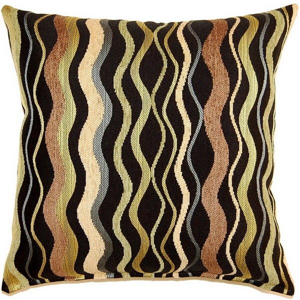 Wave in Time Citrine 17-inch Throw Pillows (Set of 2)