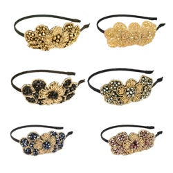 Kate Marie Beaded Flower Embellished Headband