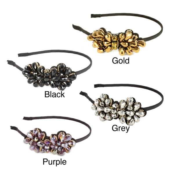 Kate Marie Glass Bead Flower Embellished Headband