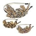 Kate Marie Glass Bead Butterfly Embellished Headband