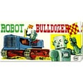 Retrobot 'Robot Bulldozer' Medium Stretched Canvas Art