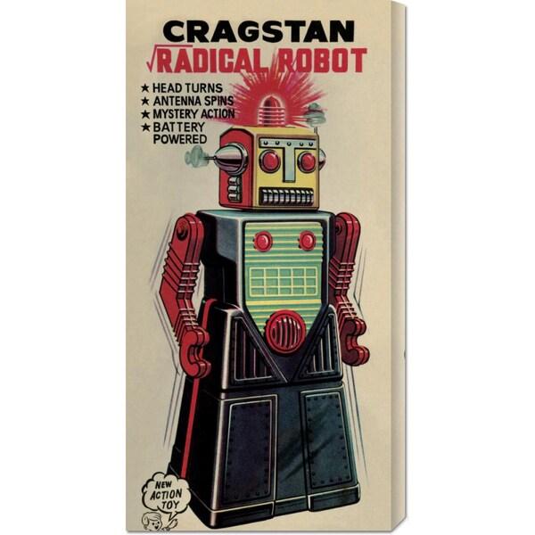 Retrobot 'Cragstan Radical Robot' Stretched Canvas Art