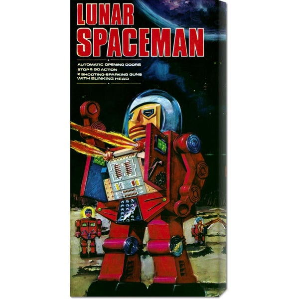 Retrobot 'Lunar Spaceman' Stretched Canvas Art