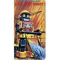 Retrobot 'Busy Cart Robot' Stretched Canvas Art