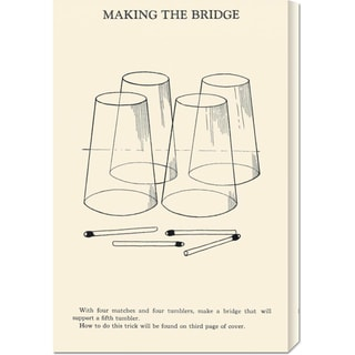 Retromagic 'Making the Bridge' Stretched Canvas Art