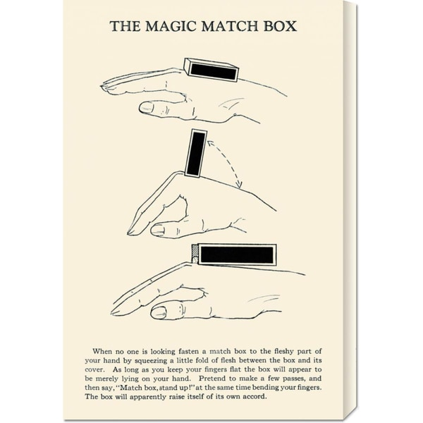 Retromagic 'The Magic Match Box' Stretched Canvas Art