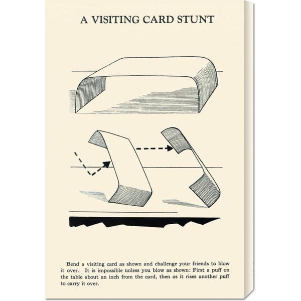 Retromagic 'A Visiting Card Stunt' Stretched Canvas Art