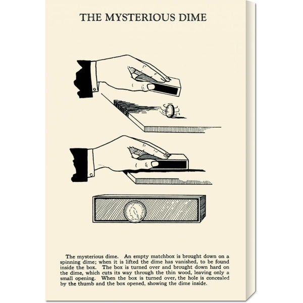 Retromagic 'The Mysterious Dime' Stretched Canvas Art
