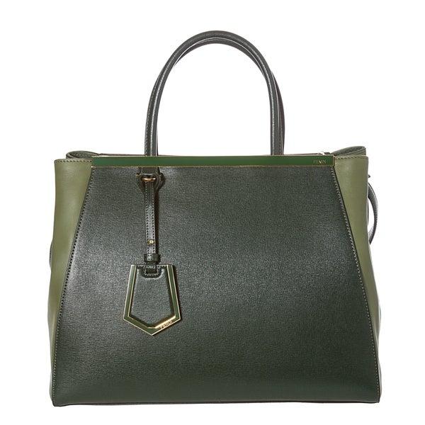 Fendi 2Jours Medium Leather Shopper Bag
