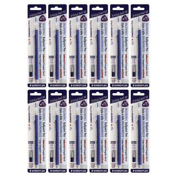 Staedtler Triplus Ball M Ergonomic Ballpoint Pens (Pack of 12)