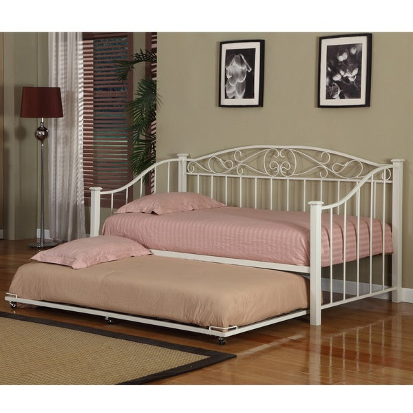 K&B DB-04CW Cream White Finish Day Bed
