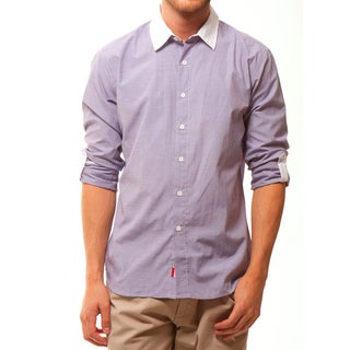 191 Unlimited Men's Purple Slim-Fit Woven Shirt