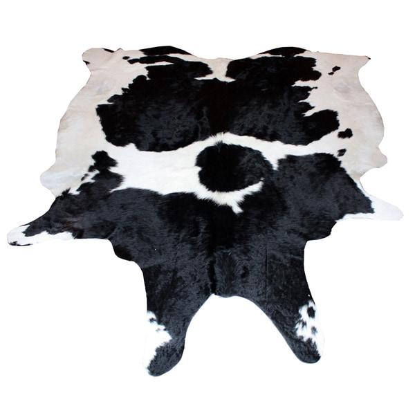 Decenni Custom Furniture Black and White Genuine Cowhide Rug (5' x 7')