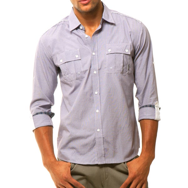 191 Unlimited Men's Purple Woven Shirt