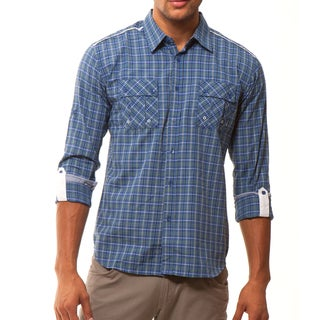 191 Unlimited Men's Plaid Woven Shirt