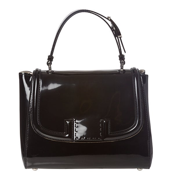 Fendi Patent Leather Silvana Satchel Bag