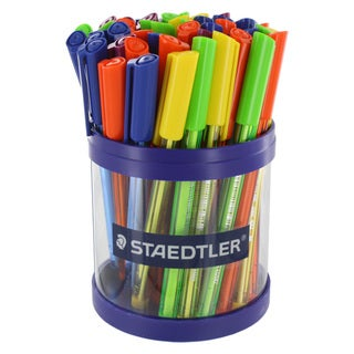 Staedtler Ball 432 Medium Point Ballpoint Pens (Pack of 50)