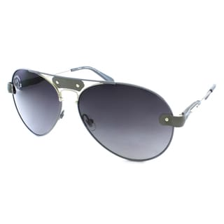 Chloe Women&#39;s CL 2104 C01 Leather Accent Aviator Sunglasses