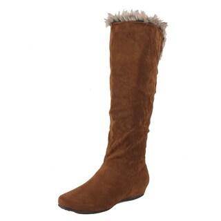 Neway by Beston Women's 'Emma-07' Brown Slouchy Boots