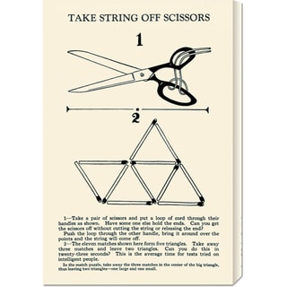 Retromagic 'Take String Off Scissors' Stretched Canvas Art